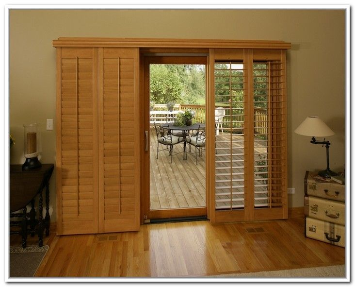 explore sliding patio doors wood shutters and more - Wood Sliding Glass Patio Doors