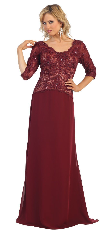 Long mother of the bride dress plus size formal pinterest