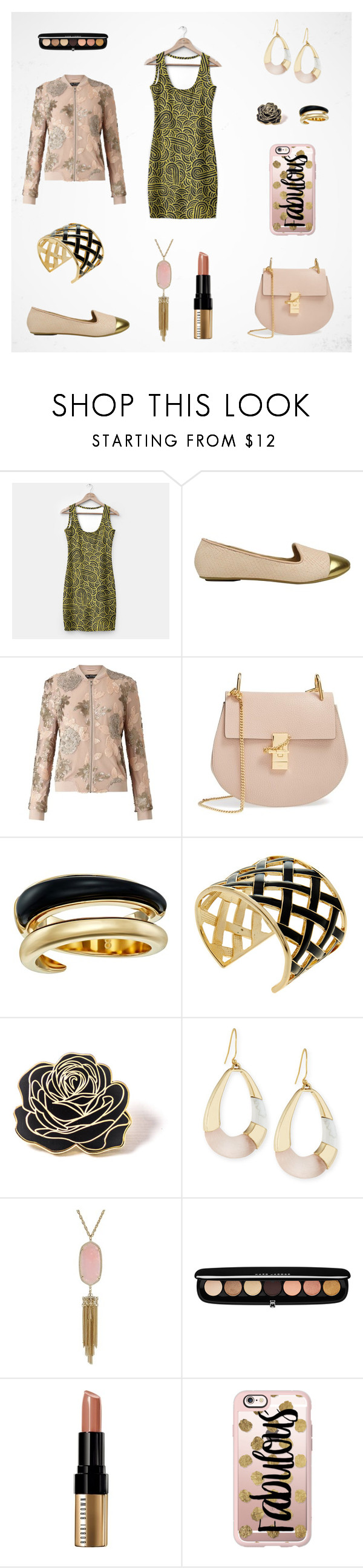Blush, Black & Gold women outfit set by @savousepate on Polyvore