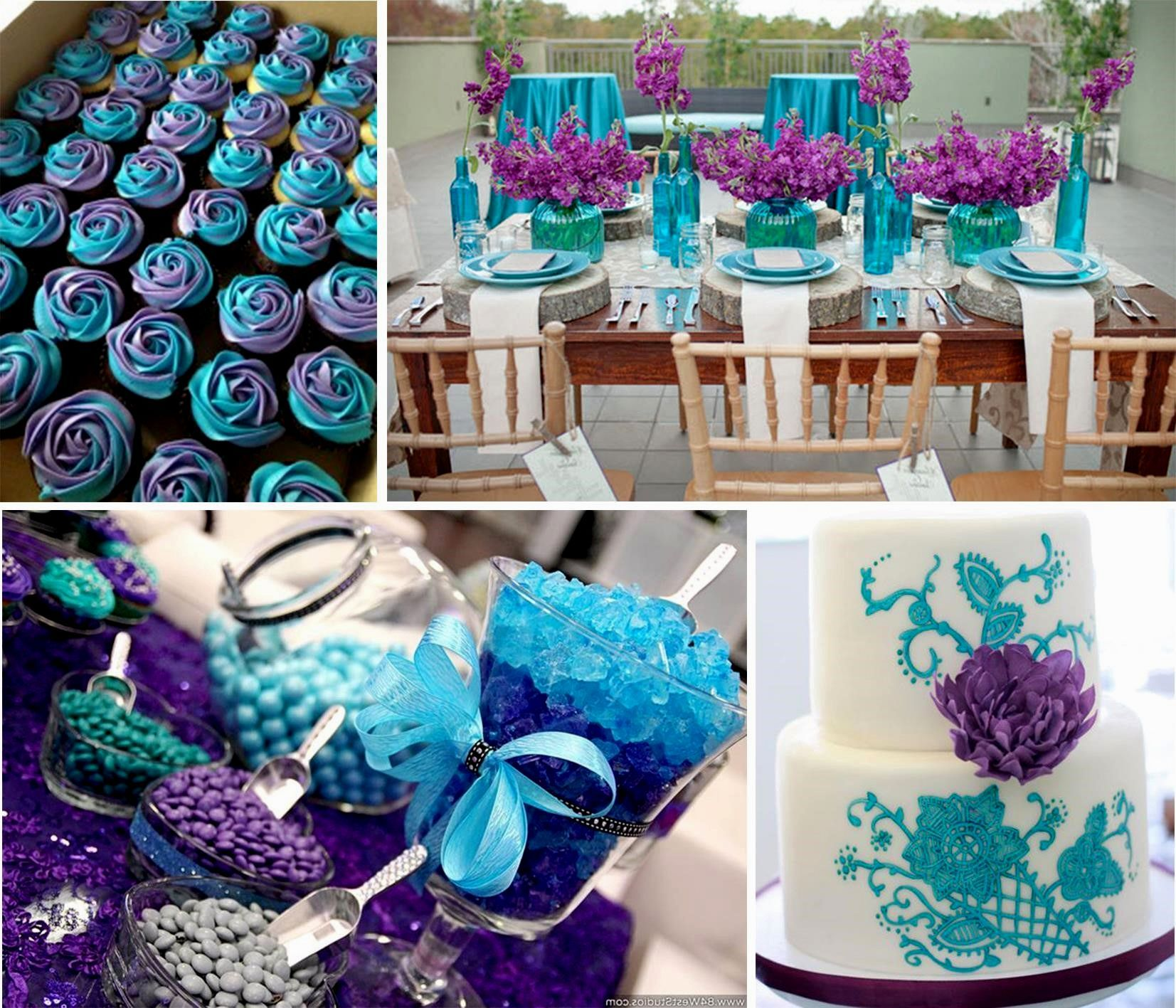Blue And Purple Wedding Theme Pictures