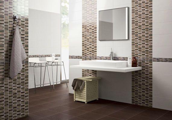 Carrelage mural / en céramique / de salle de bain / aspect mosaïque