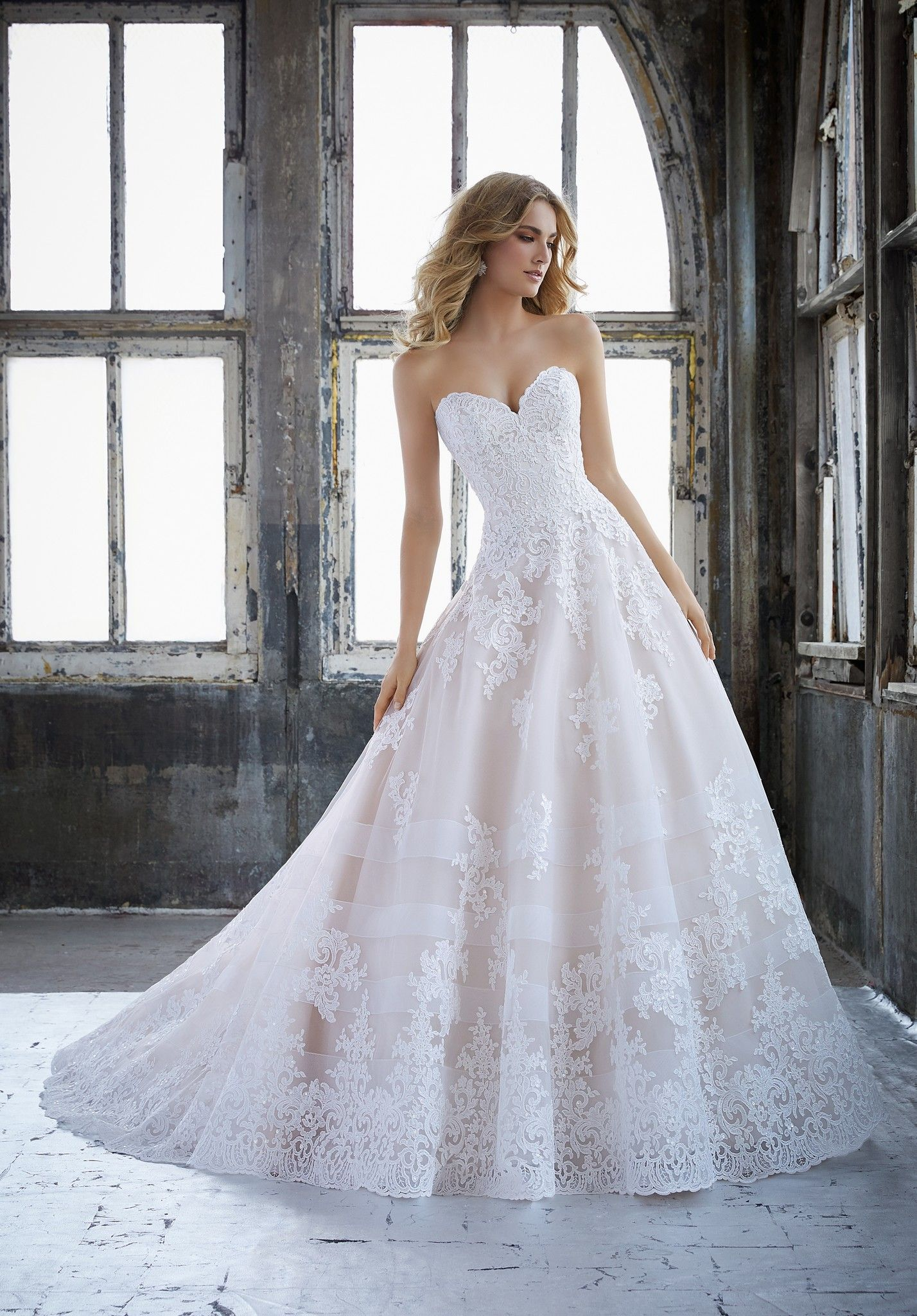 Kimberley wedding dress princess ballgown featuring a sweetheart