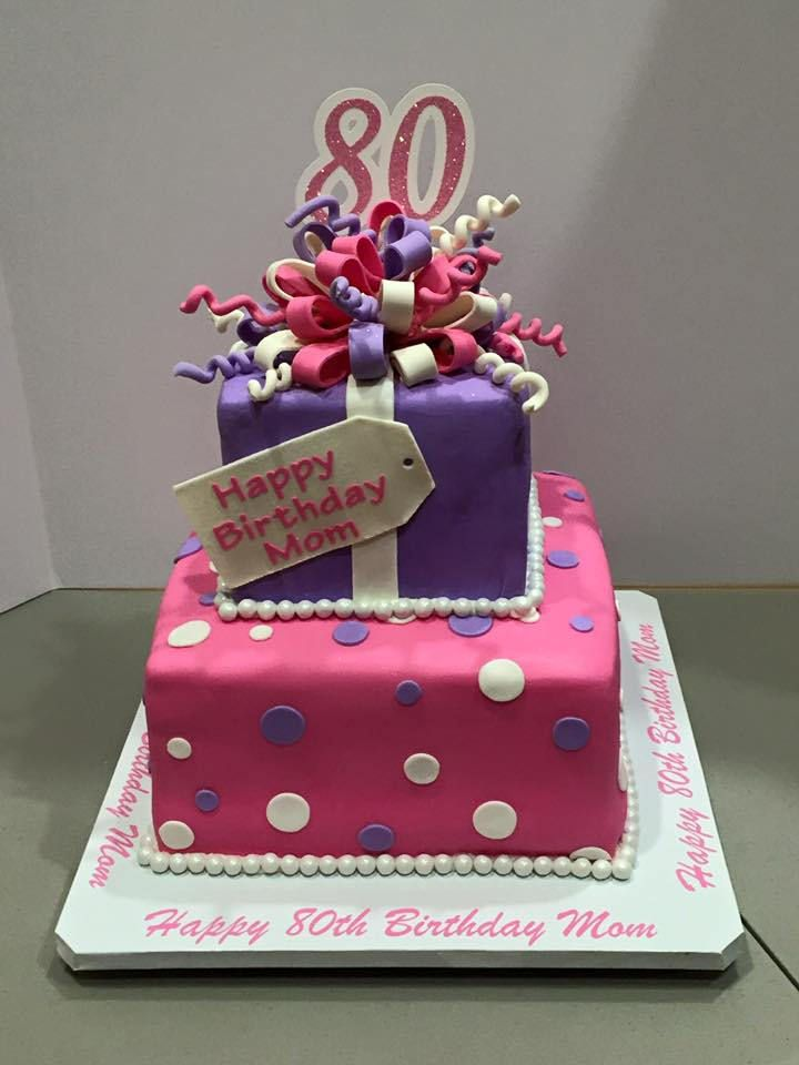 2 Tier Square Birthday Cake