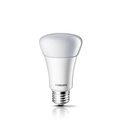Philips 60 Watt Equivalent A19 Dimmable Led Light Bulb Soft White 2700k 424382 The Home Depot Led Light Bulb Dimmable Led Lights Light Bulb