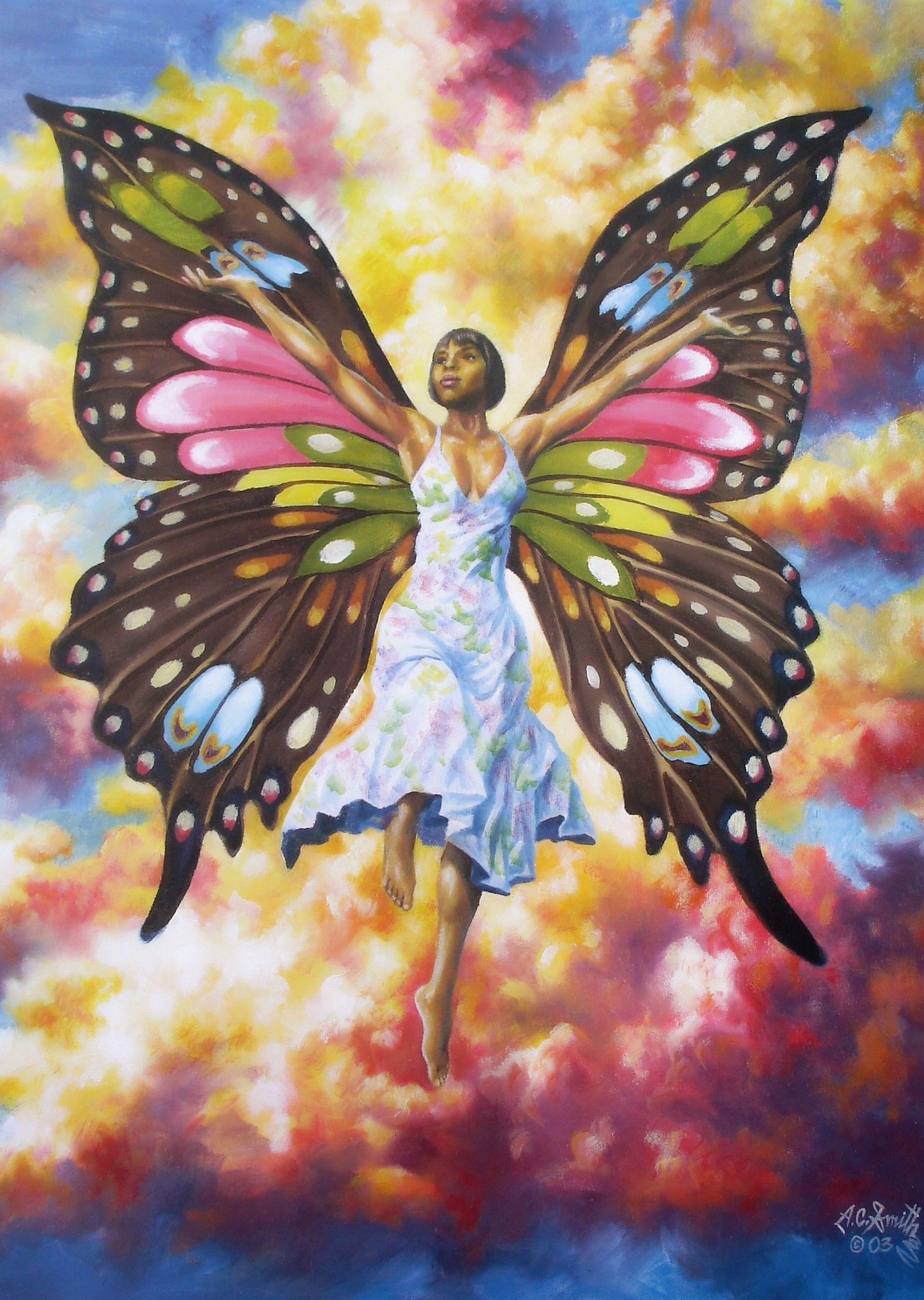 African American Art Women Butterfly - Google Strong Unique & Beautiful