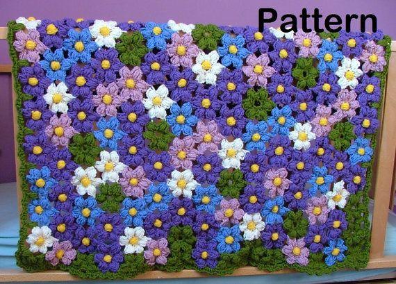 Crochet Pattern Baby Violet Flower Blanket Crochet Pattern Crochet