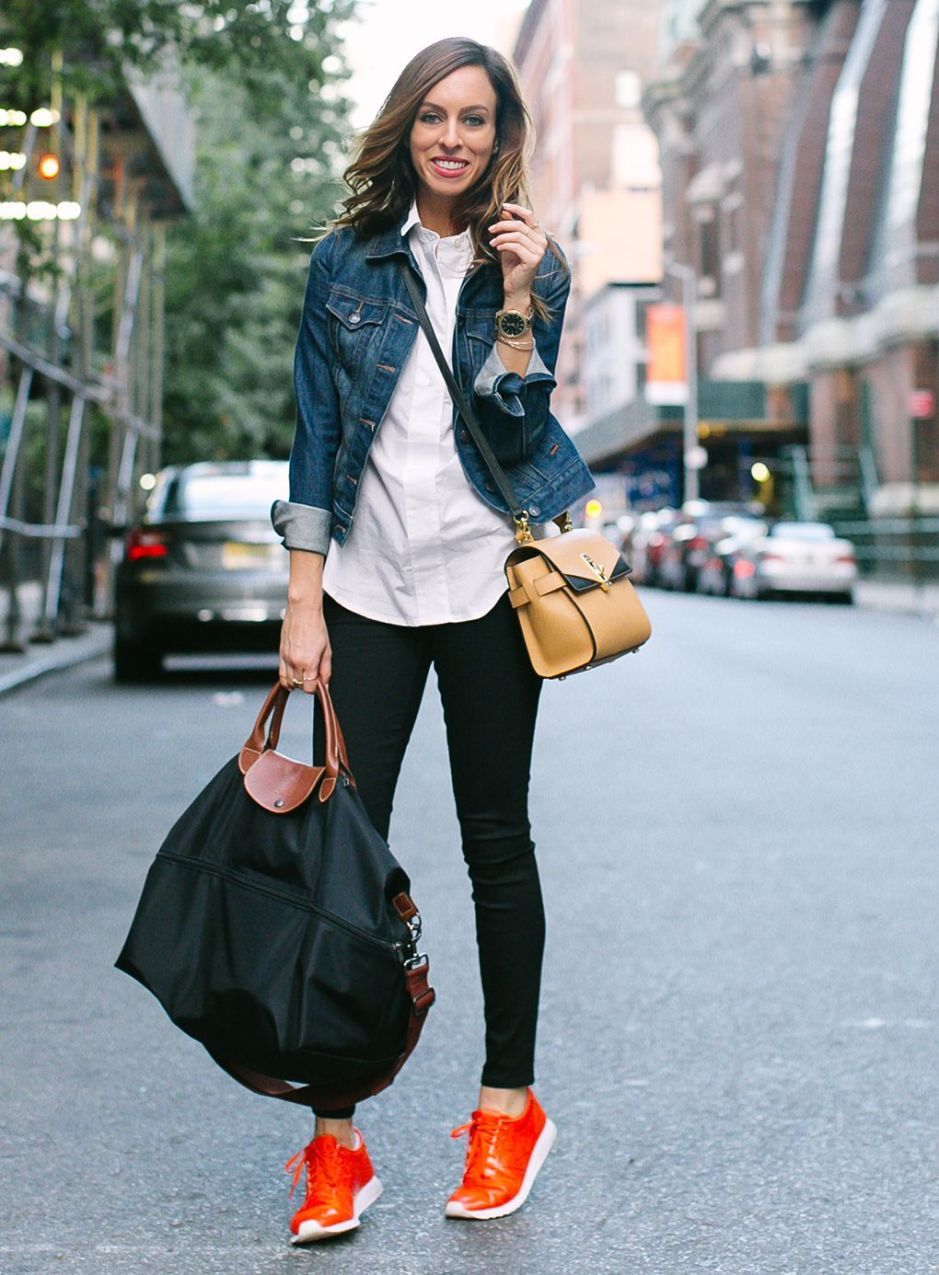 Sneaker outfits women, Red sneakers outfit
