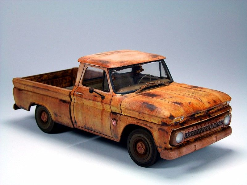 weathered 64 chevy c10 model making pinterest chevy chevy c10 and rust. Black Bedroom Furniture Sets. Home Design Ideas
