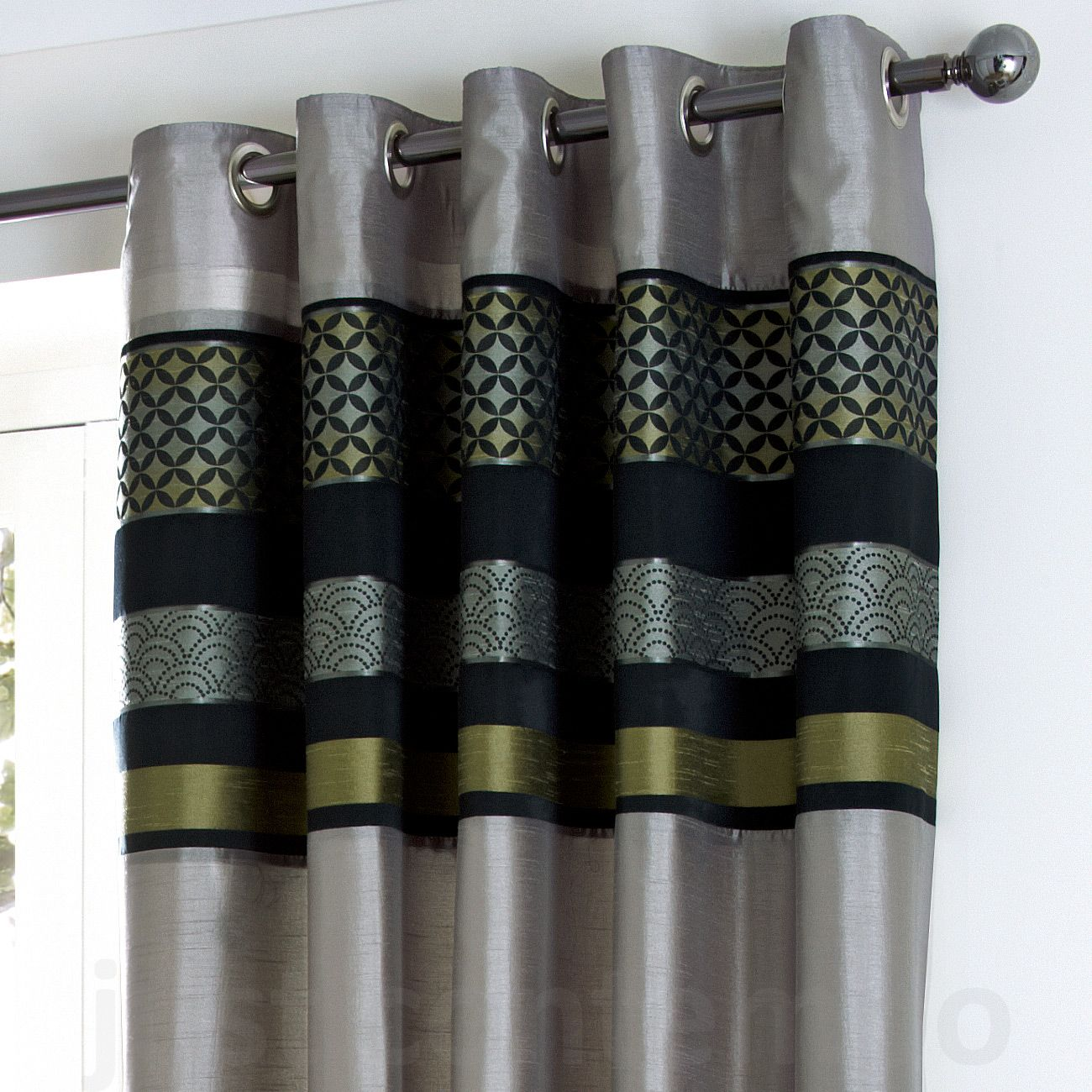 Silver Grey Curtains Style Jpg 1 300 1 300 Pixels Lime Green Curtains Curtains Green Curtains