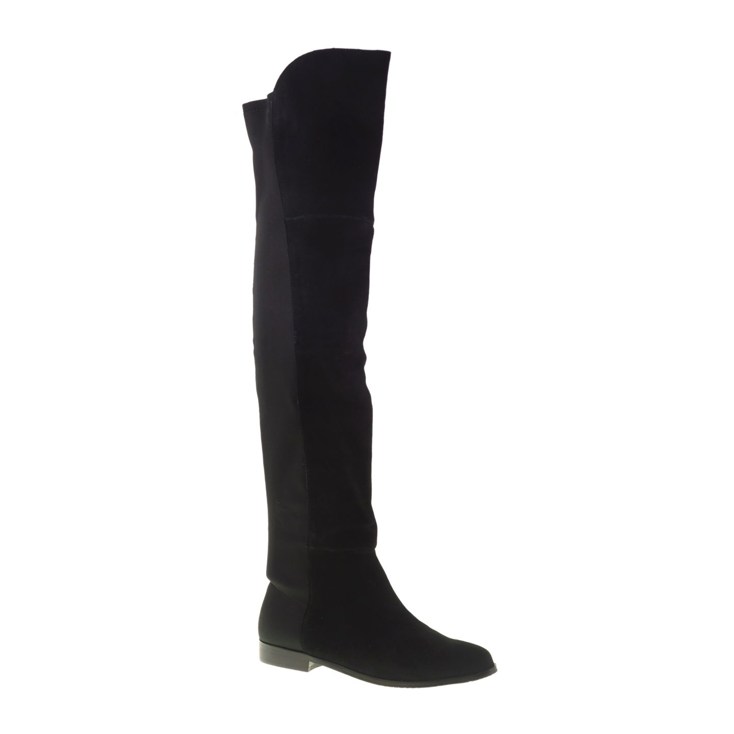 Chinese Laundry Riley Suede Suede Over The Knee Boots Black With