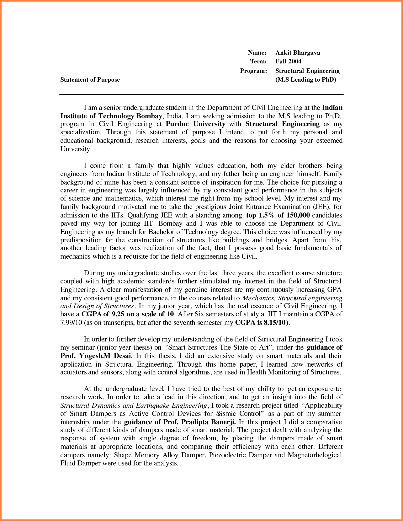 graduate school letter of intent template bunch ideas
