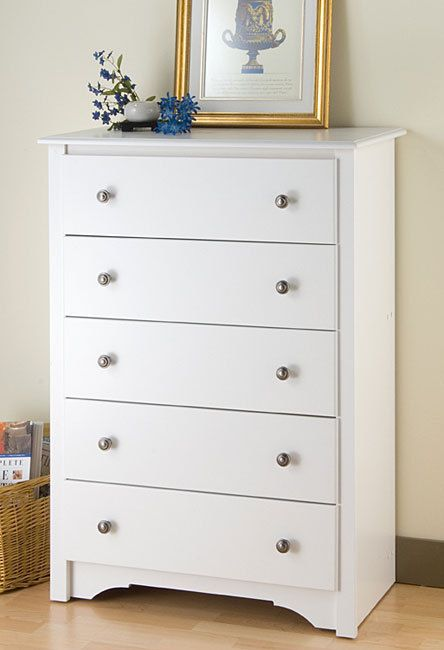 Tall White Modern Dresser Bedroom Furniture 5 Drawer Chest Home Decor Wood Ne Wood Bedroom Furniture Bedroom
