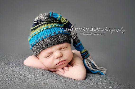 Newborn Boy Hatnewborn Photo Propstocking Hatknitted Hat