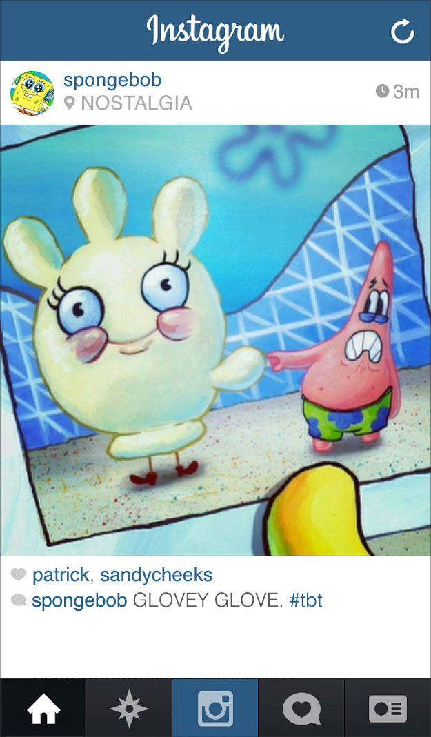 If Spongebob Squarepants Had Instagram With Images Spongebob
