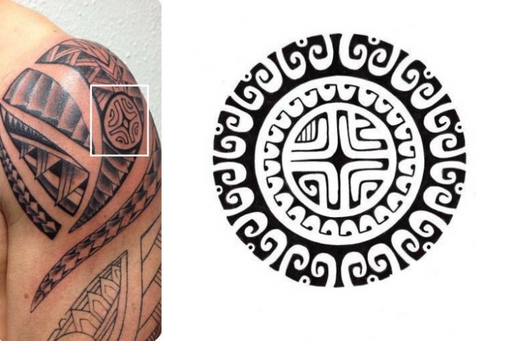 marquesas kreuz symbol im maori tattoo design eingebettet. Black Bedroom Furniture Sets. Home Design Ideas