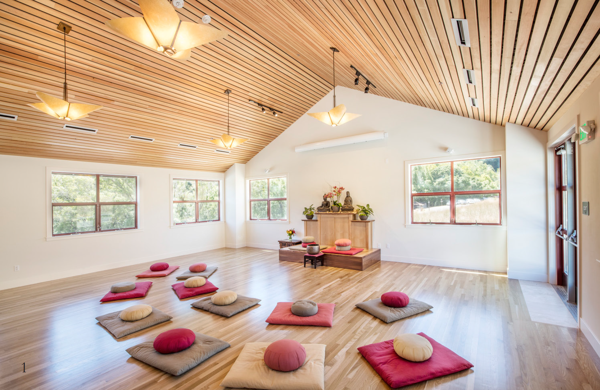 Spirit Rock Meditation Hall Note Furniture Focal Point Ceiling Roof Lighting Meditation Space Insight Meditation Meditation Center