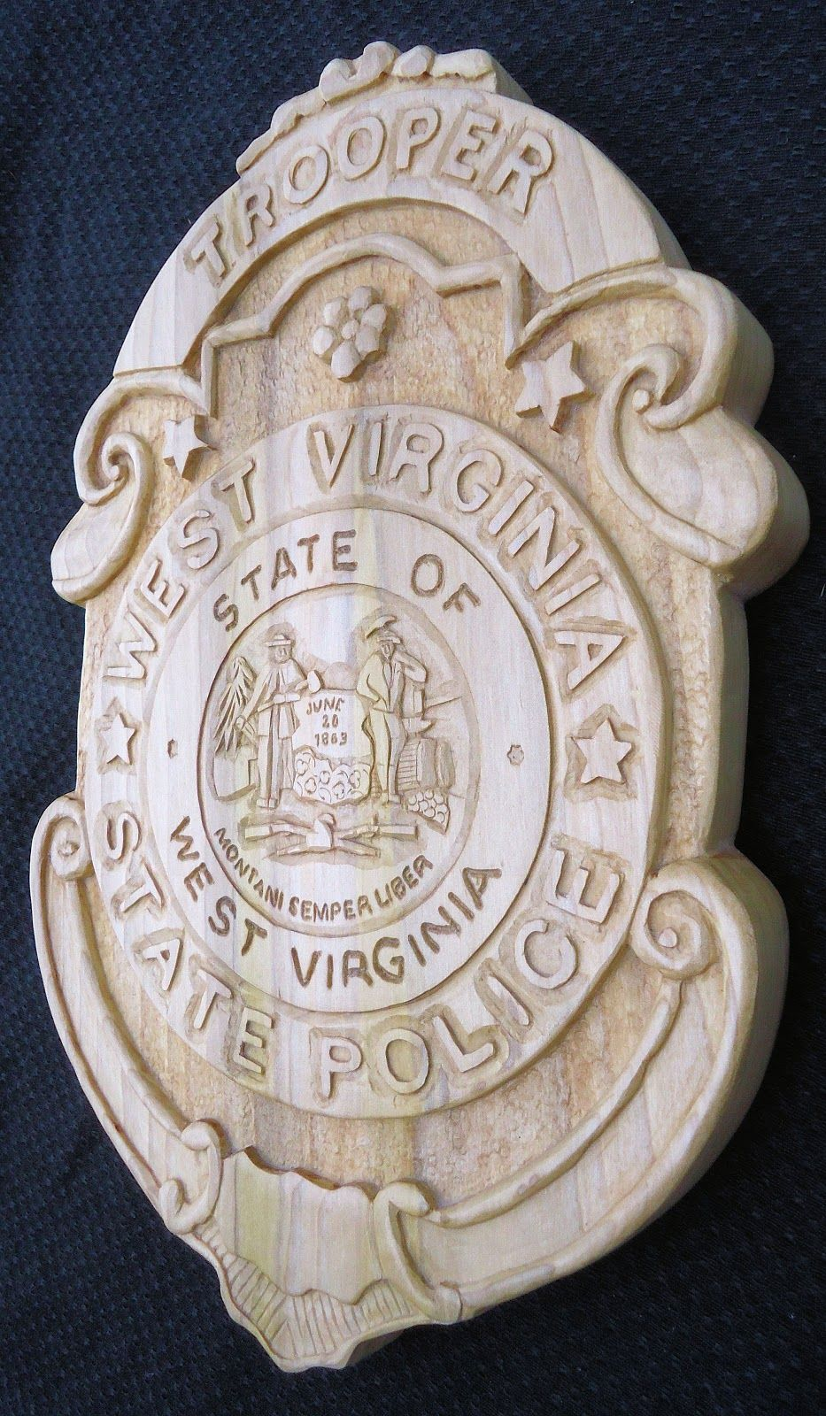 police badge by hipshotwoodcarving blogspot com interesting