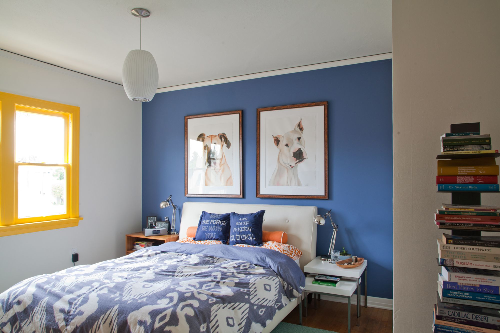 Accent wall paint ideas bedroom  House Tour A