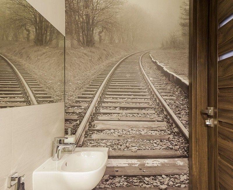 Badezimmer Ideen für kleine Bäder - Fototapete als Wanddeko - fototapete für badezimmer