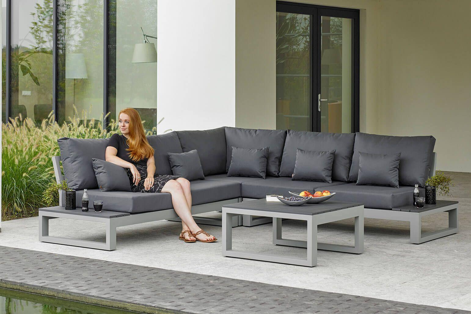 Neu Im Sortiment Von Life Outdoor Living Mit Dem Mallorca Lounge Set Konnen Sie Ein Modernes Design Aus Vollaluminium Outdoor Lounge Mobel Lounge Mobel Lounge