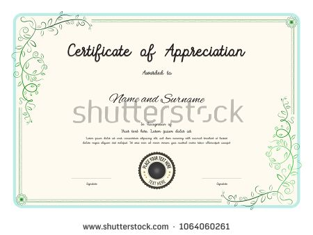 luxury certificate template with elegant floral border frame