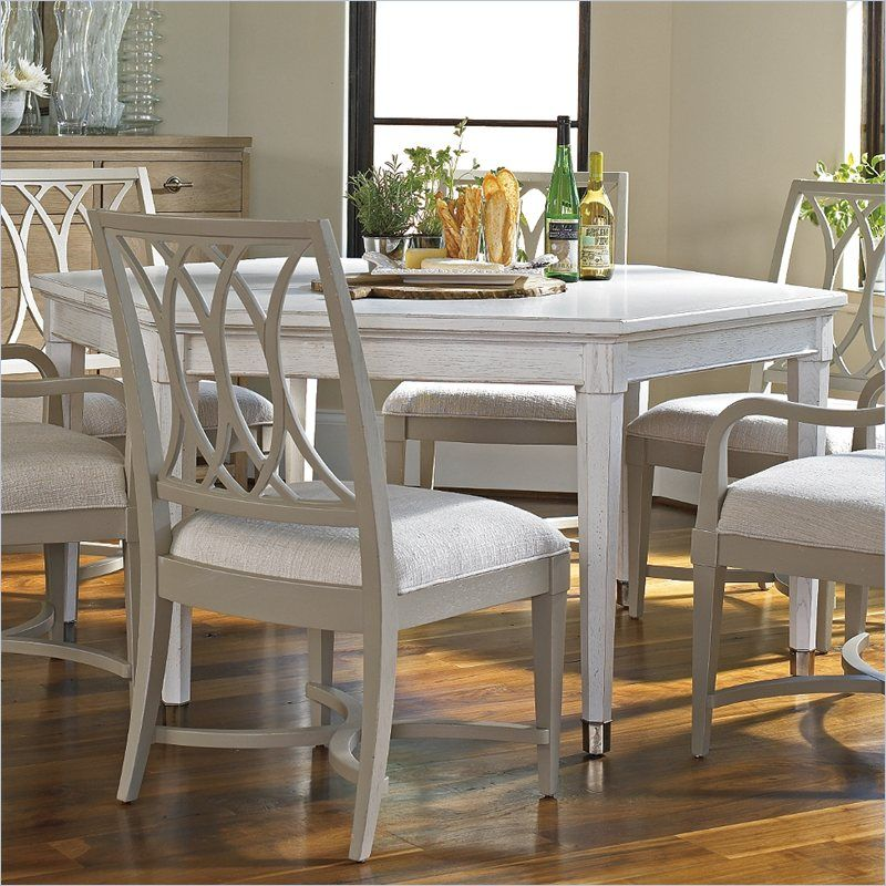 Lowest Price Online On All Stanley Furniture Coastal Living Resort Soledad Promenade Leg Dining Table In Sail Cloth