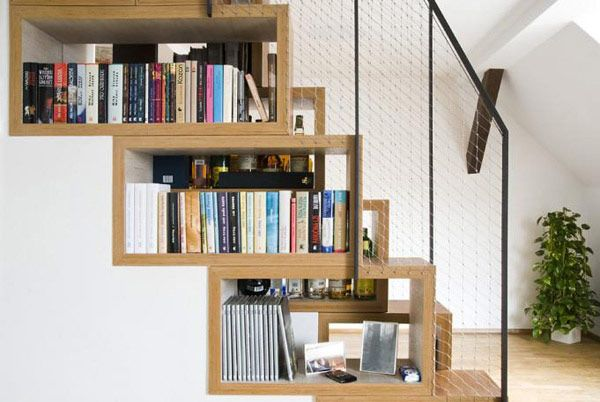 Under stairs shelving decorating lovely under stairs shelving with bookcase design ideas and nice banister