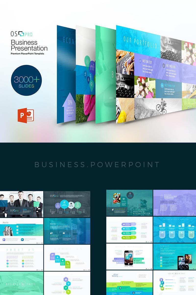 ios pro powerpoint template brand pinterest template business