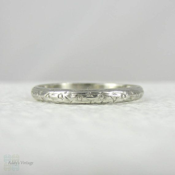 Art Deco Engraved Platinum Wedding Ring Matches My Engage Ent Ring