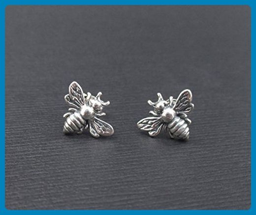 041e23b61 Little Silver Bee Earrings • Honeybee Studs • Tiny Bumble Bee Posts •  Nature Lover • Summer Jewelry • Garden Themed Wedding • Bridesmaid Gift -  Bridesmaid ...