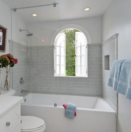Half Glass Bathtub Door