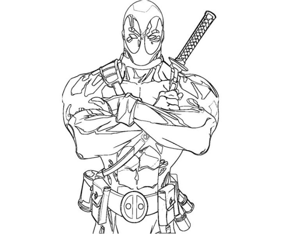 Get This Deadpool Coloring Pages Free Printable 107432 Marvel