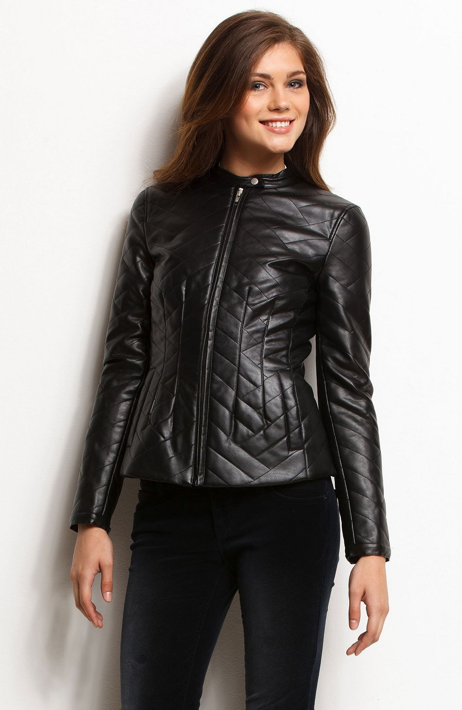 Quilted Faux Leather Jacket Armani Exchange Clothes