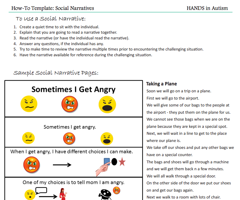 Social Story Template Download Elitadearest