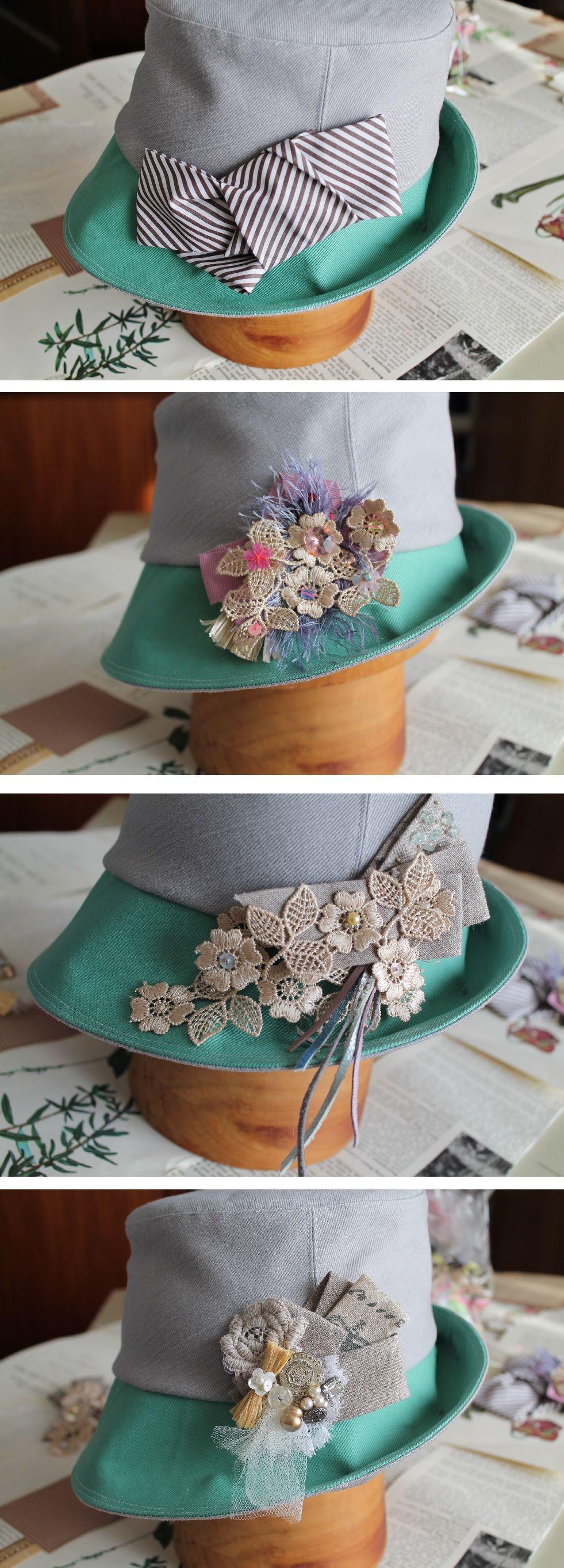 帽子の飾り