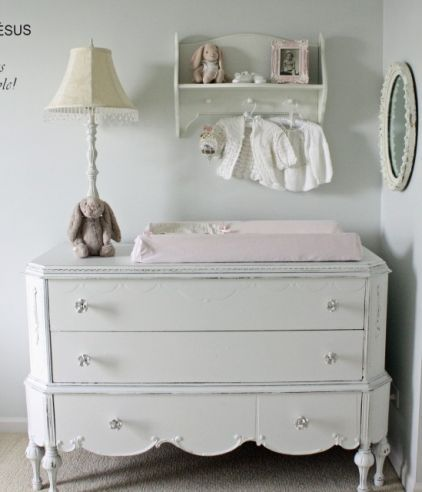 antique dresser as a changing table