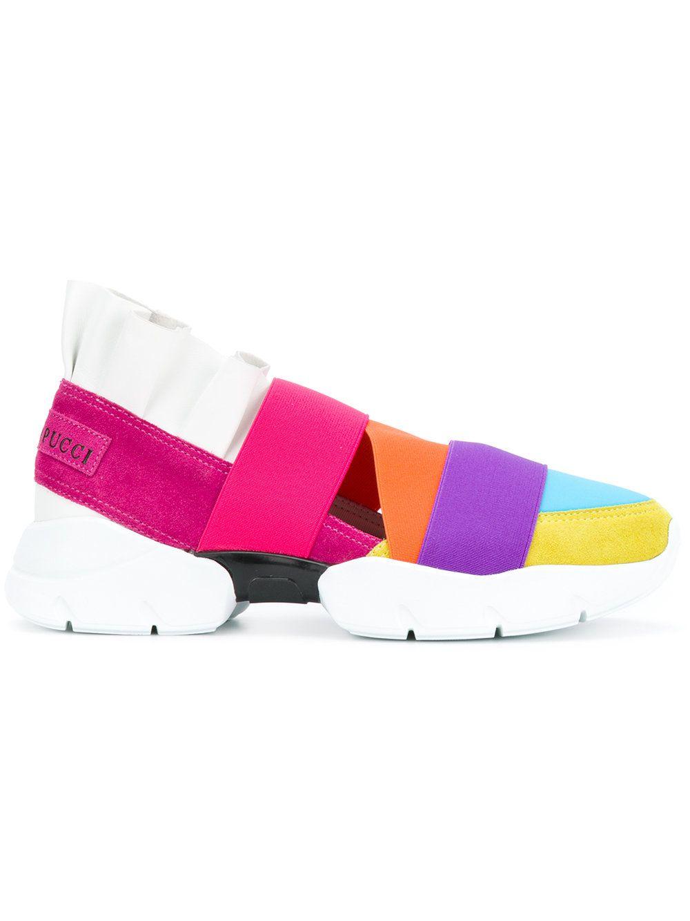 0cbbed8fa4ee Emilio Pucci Colour Block Strap Sneakers in 2019   Trend FW19  Bold ...
