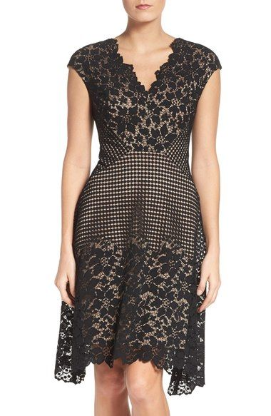 Maggy London Lace Fit & Flare Dress available at #Nordstrom