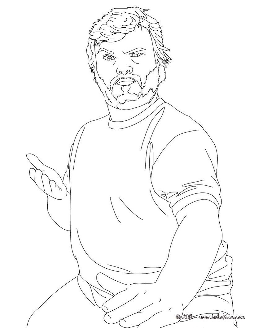 Coloring Pages Jack Black Coloring Page Art Therapy Coloring