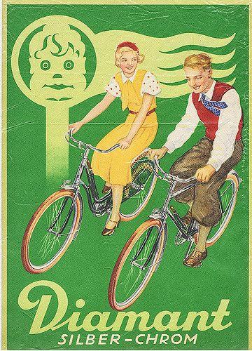 Diamant Silber Chrom Fahrrader Fahrrad Poster Fahrradkunst