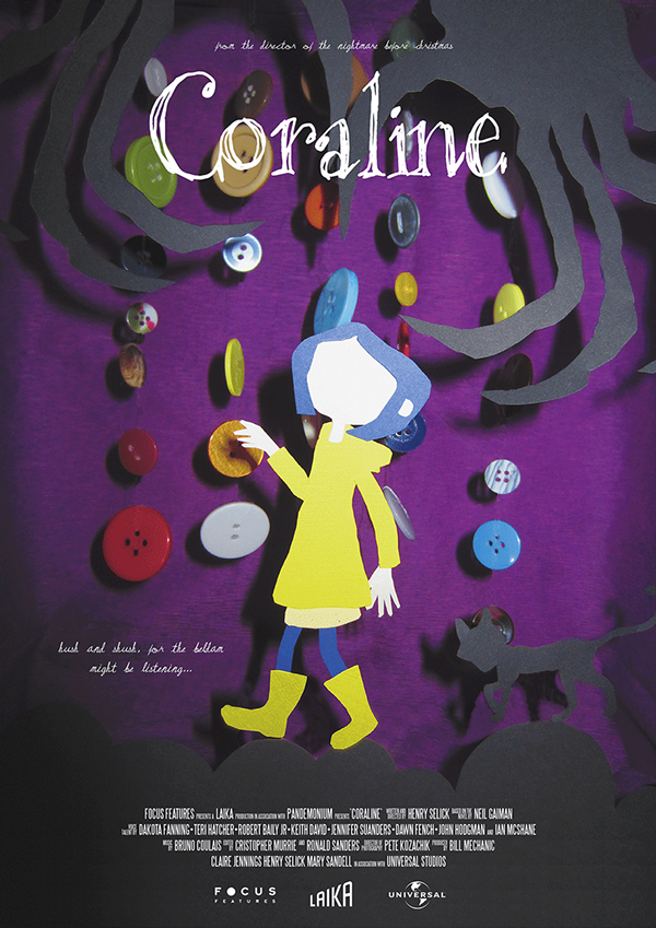 Coraline Movie Poster on Behance Karma Elston