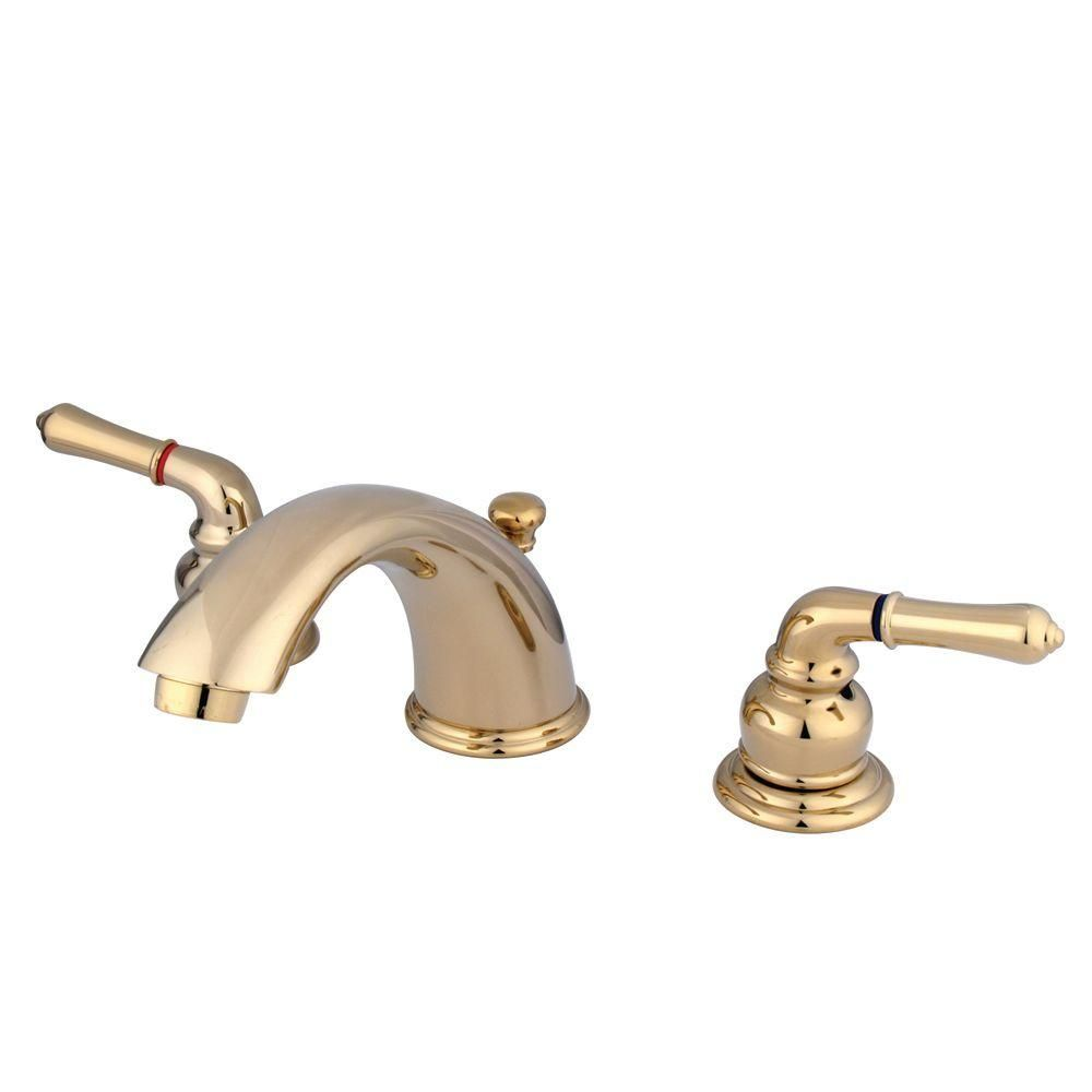 Kingston Brass 8 In Widespread 2 Handle Mid Arc Bathroom Faucet