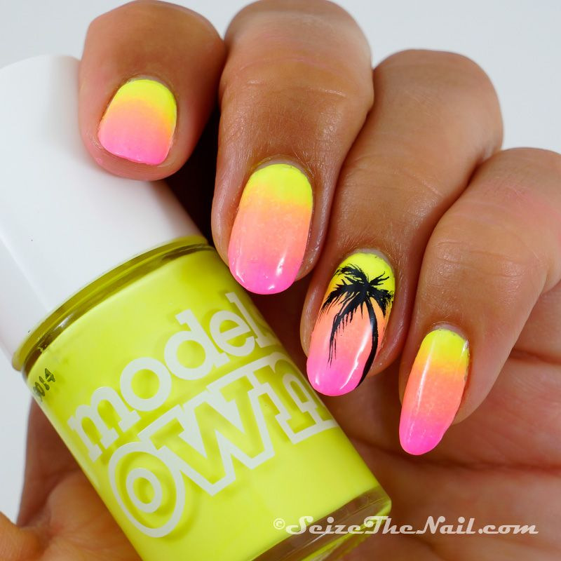 Neon and palms for my bestie nails pinterest palm neon and my bestie amanda came over a few days ago and i did her nails we used bikini sun hat and beach bag and then of course a hand painted palm tree prinsesfo Image collections
