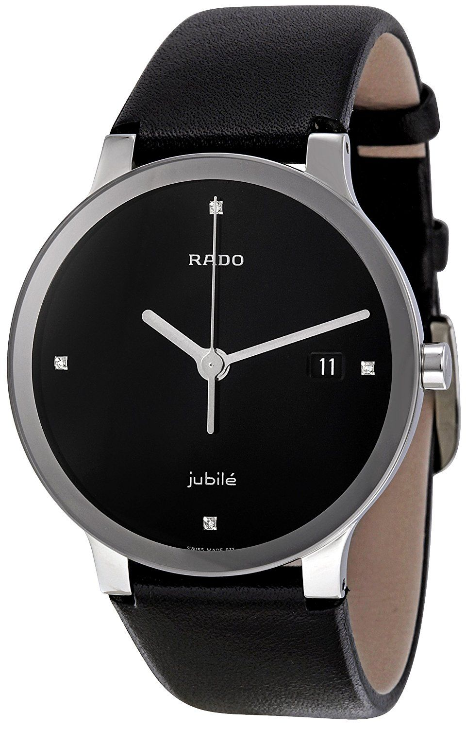 Rado Women S R30927715 Centix Jubile Black Leather Bracelet Watch You Can Find Out More Details At The Link Of The Image T Black Leather Bracelet Black Leather Watch Bracelet Watch
