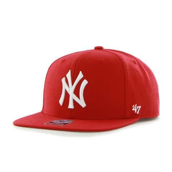 1925912dddc New York Yankees Sure Shot Red 47 Brand Adjustable Hat