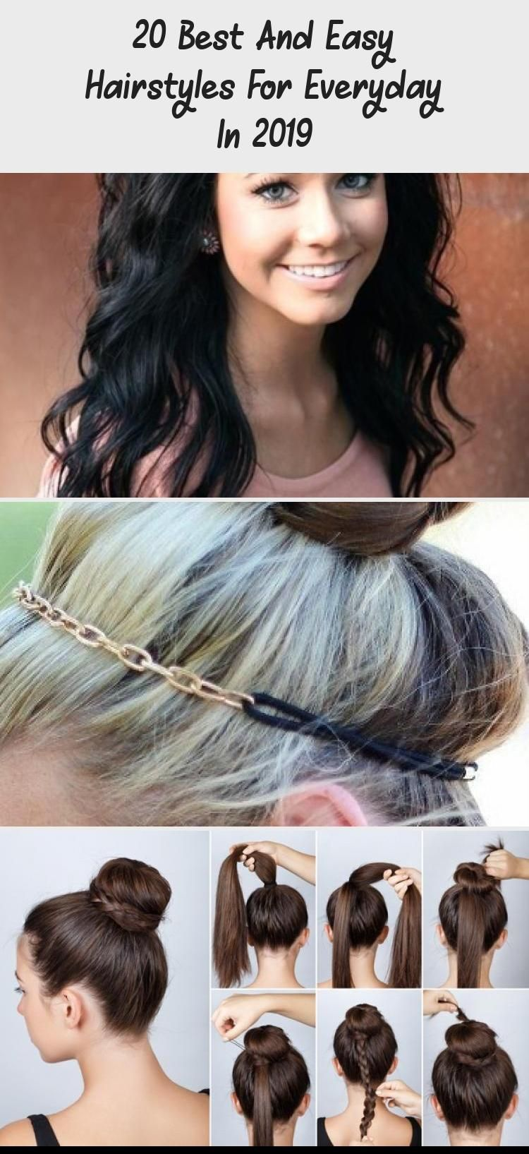 20 Best And Easy Hairstyles For Everyday In 2019 Lina S Blog Top 17 Casual Hairstyles For Everyday E In 2020 Easy Everyday Hairstyles Easy Hairstyles Hair Styles