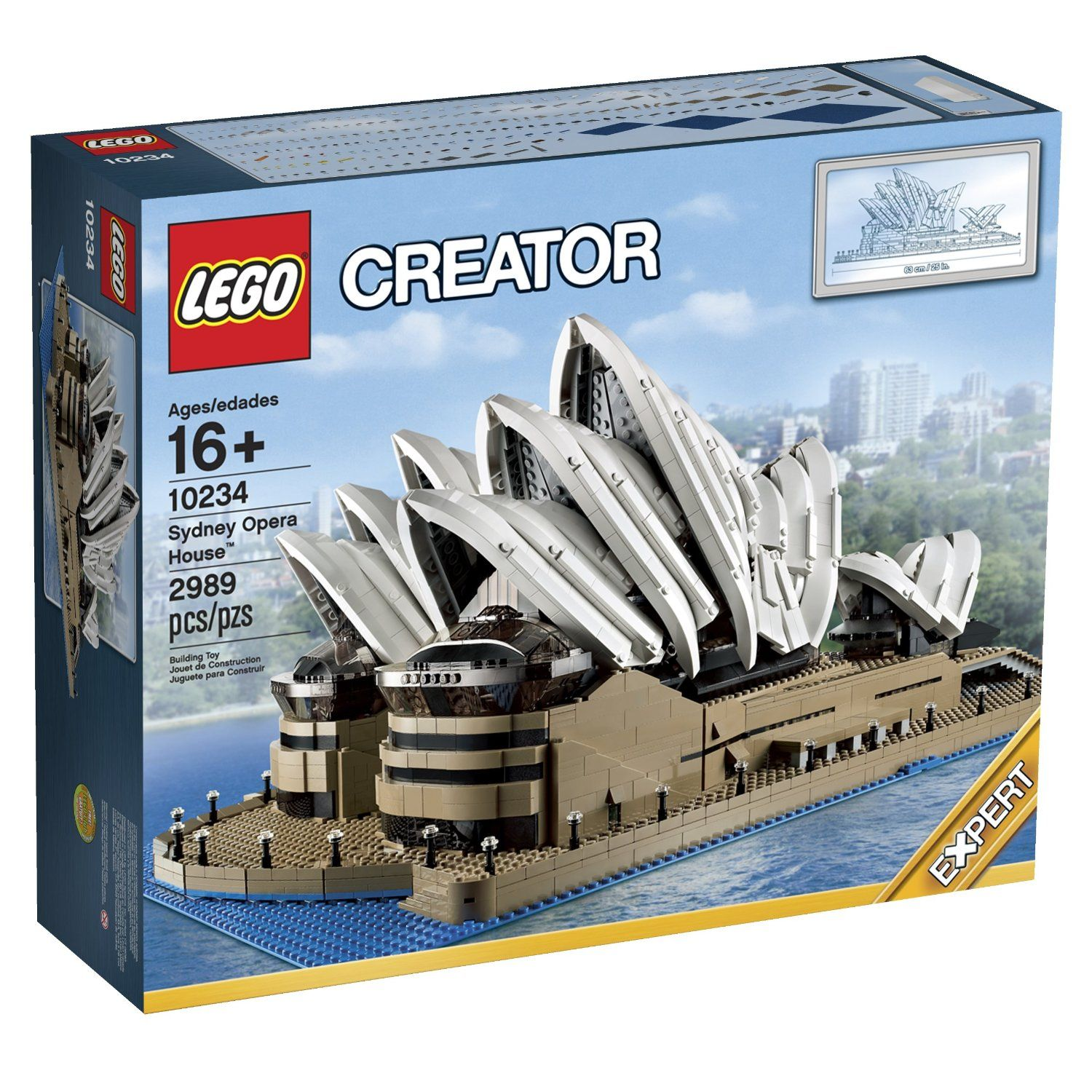 Pin lego 60032 city the lego summer wave in official images on - Build The Sydney Opera House In Lego Form With Dark Tan Lego Bricks Blue Baseplate And Advanced Building Techniques