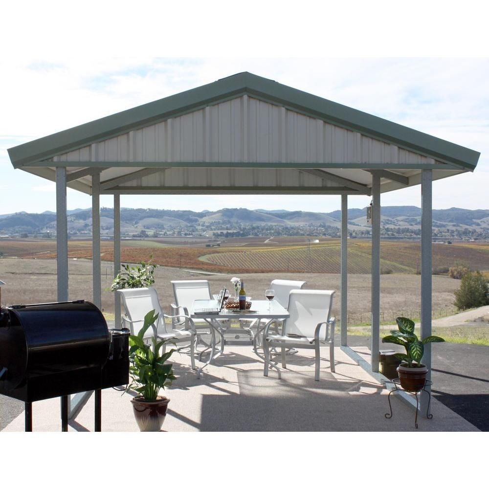 PWS Premium Canopy 10 ft. x 12 ft. Light Stone and Patina