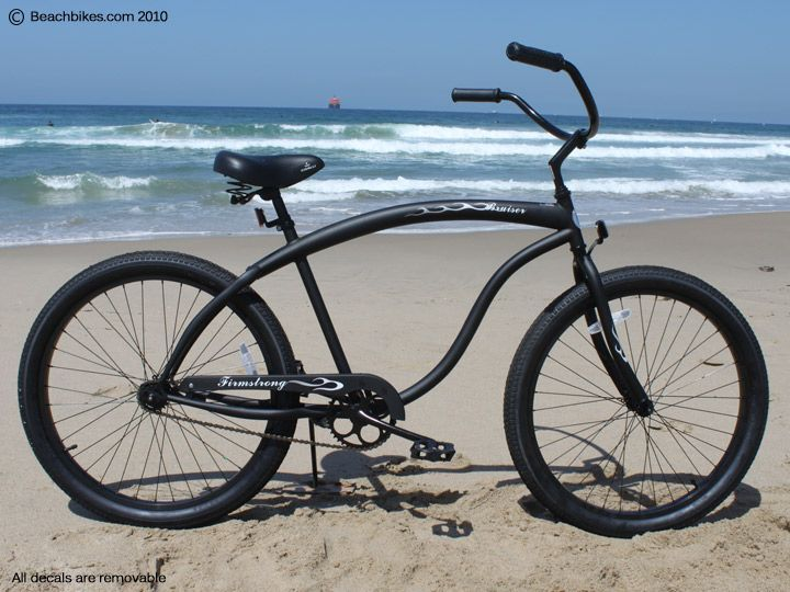 Men S Sleek Classic Matte Black Cruiser Edgy Bike For Riding By