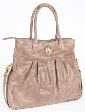 Kage Handbags Stormy Hobo With Genuine Italian Leather And Side Buckle